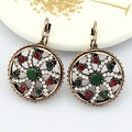Brincos Ouro fine Turkish Vintage Earings Collar Womans Christmas bijuterias Relogio Feminino Brincos Grandes Emerlad Brinco UK