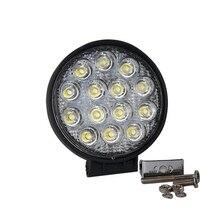 Бесплатная доставка 42 Вт 7 дюймов LED Work Light Bar 12X3 Вт светодиодный чип Наводнение Пятно света Spotlight Offroad Свет Бар Подходит ATV открытый свет