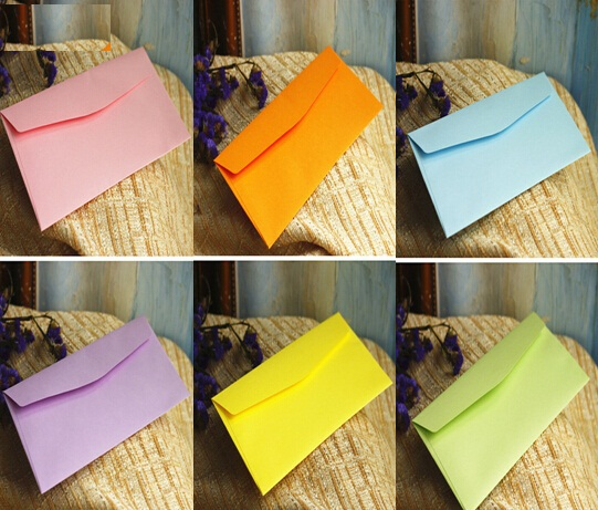 5pcs/lot  220*110mm/ New Cute Candy Color Series Envelopes DIY Multifunction Envelope