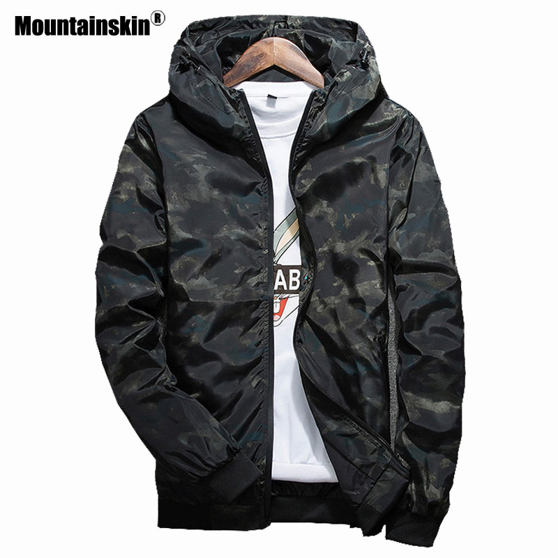 Mountainskin Spring Men's Casual Jackets Fashion Camouflage Outerwear Men's Coats Male Bomber Jackets Mens Brand Clothing SA404