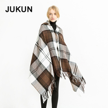2018 New Arrival Autumn Winter Women Scarf Thicken Warm Cashmere Pashmina Brand Poncho Letter Solider Print