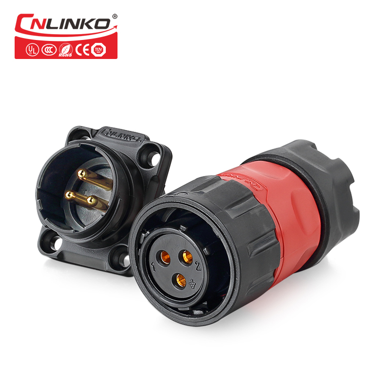 Shenzhen Power Connector Manufacturers Supply IP67 Waterproof Scoket  Circular Power 3 Pin Cable ConnectorShenzhen Power Connector Manufacturers Supply IP67 Waterproof Scoket  Circular Power 3 Pin Cable Connector