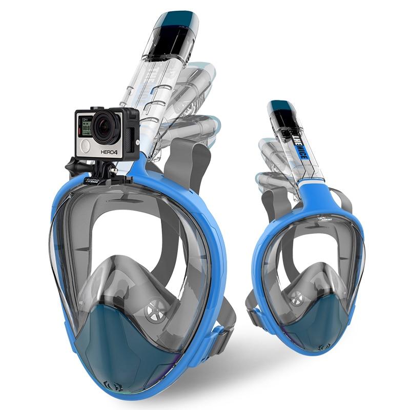 2018 New Full Face Snorkel Folding Diving Mask Anti Fog Waterproof Snorkel Mask Breathing Tube Swimming