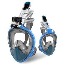 2018 New Full Face Snorkel Folding Diving Mask Anti Fog Waterproof Snorkel Mask Breathing Tube Swimming Snorkeling Equipment недорого