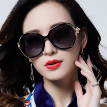 Sunglasses Classic Brand Flower Stand Ladies Fashion 2018 Big V400 7 Colors