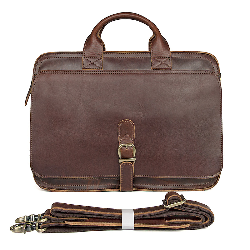 15 Laptop Briefcase Bags 100%Cow Leather Men Vintage Real Leather Business Dress Casual Vintage Book File Handbags Shoulder Bag everlast свитер