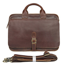 15 Laptop Briefcase Bags 100%Cow Leather Men Vintage Real Leather Business Dress Casual Vintage Book File Handbags Shoulder Bag jada гарри поттер фигурка harry год седьмой
