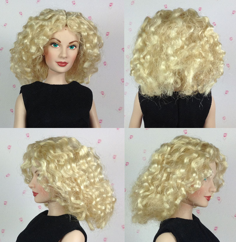 Original Kingstate Doll Wigs Fashionable Gold Curly Hair