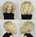 Original KINGSTATE Doll Wigs Fashionable Gold Curly Hair Wig For 1/4 Franklin Mint Dolls Celebrity Doll Collection Free Shipping
