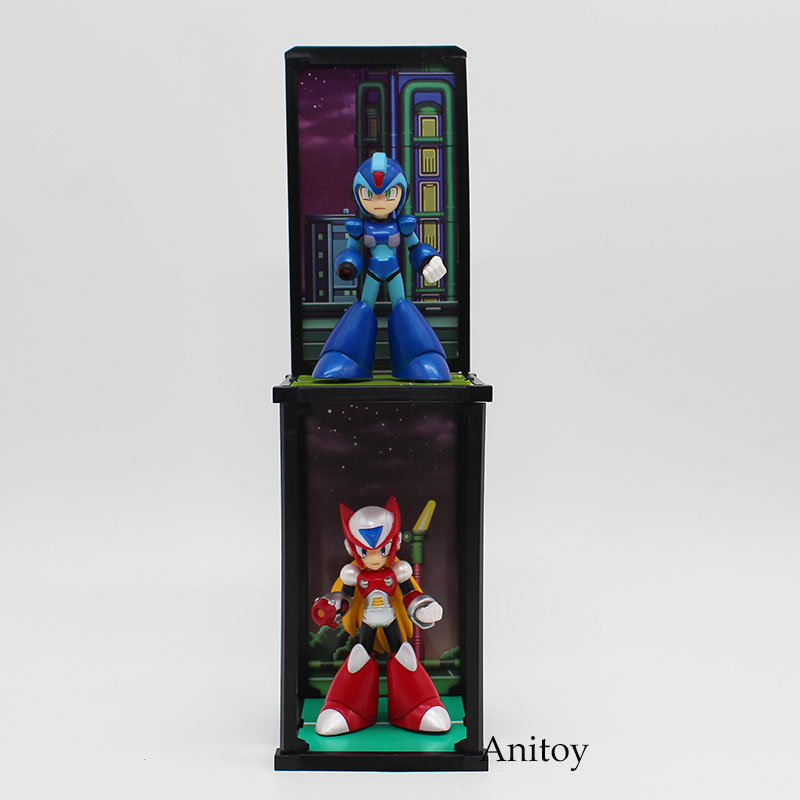 2pcs/set Anime Rockman TAMASHII BUDDIES Red & Blue PVC Action Figure Collectible Model Toy 10cm KT3770 shfiguarts batman injustice ver pvc action figure collectible model toy 16cm kt1840