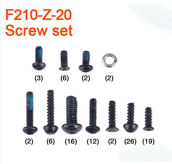 F17443 Walkera F210 RC Helicopter Quadcopter spare parts F210-Z-20 Screw Set extra power board for walkera f210 multicopter rc drone