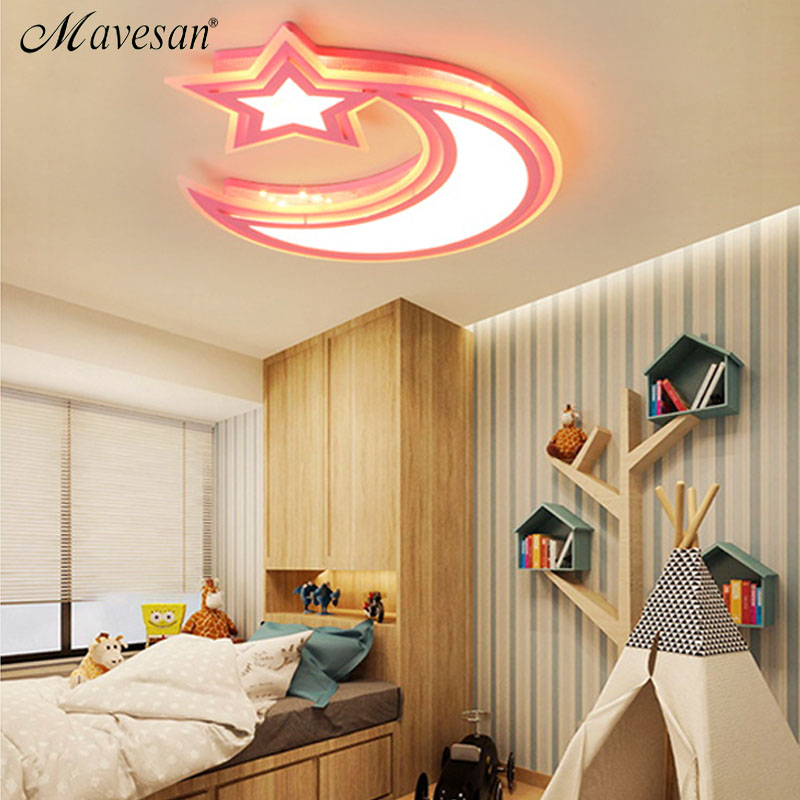 2018 Kids art deco ceiling lights white blue pink color for boy girl bedroom study room luminaria ceiling Lighting Fixtures