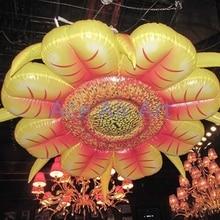 Надувной светодиодный подвесной свадебный цветок для вечеринки