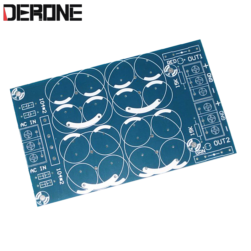 2 piece 2 way rectifier filter board PCB DC adapater for power amplifier Parallel output Capacitor filter PCB for Audiophile DIY