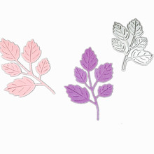 DIY Metal Cut Dies Carbon Steel Die Scrapbooking Dekorativa Kort Embossing Dies Cut Stencils Branch Leaf Leaves