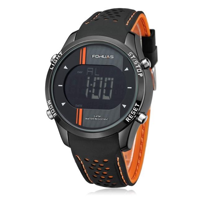 FOHUAS Marca Esporte Relógio De Pulso Militar dos homens Relógios Moda Silicone Digital Watch Homens Relógios De Pulso À Prova D' Água Relógio Masculino