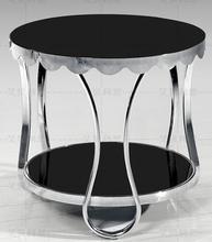 Небольшой чайный столик, диван. Закаленное стекло нержавеющей стальной раме чайный столик