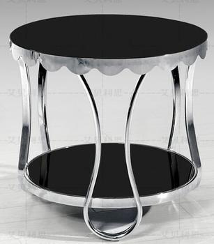 Small tea table, sofa. Toughened glass stainless steel frame the tea-table toughened glass tea table stainless steel small square table the sofa side table flower