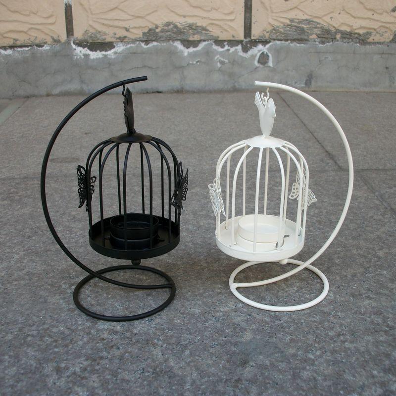 Wholesale Vintage Wedding Decor Standing Lantern Sconce Candle Holders Bird Cages Candlesticks Decorative For Home Decoration