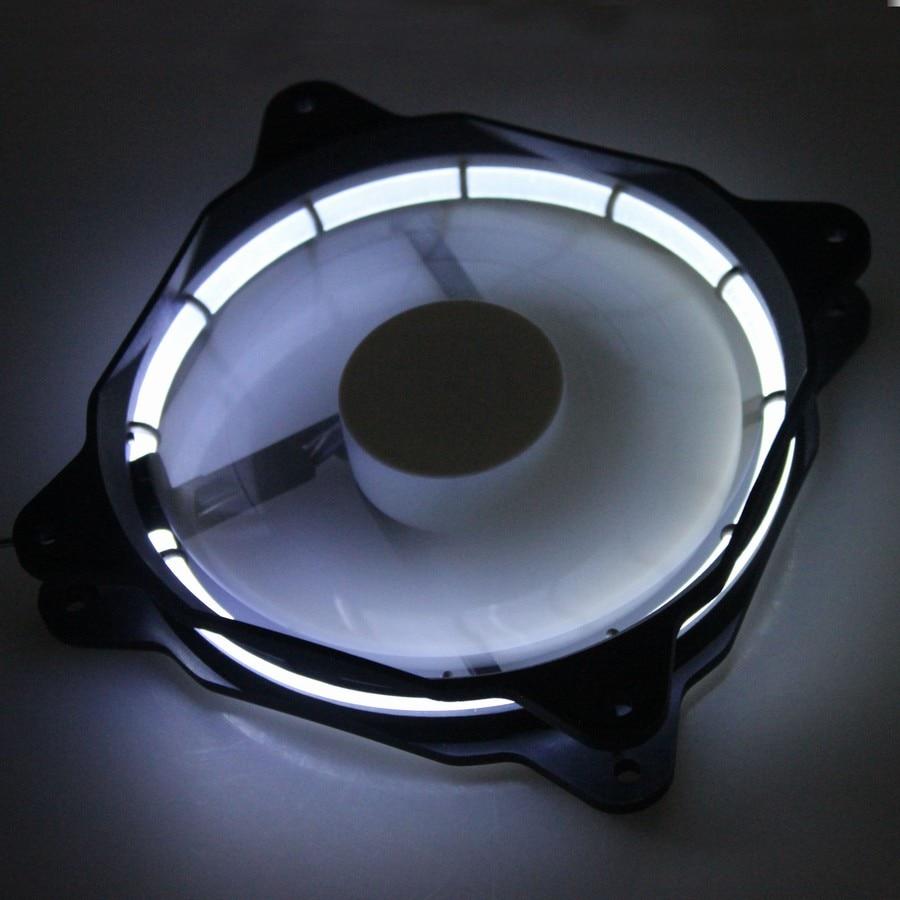 2PCS Gdstime Low Noise 3Pin 4Pin 12 Volt 120mm LED Fan 15 Lights LED White Cooling Fan 12V 120x25mm New gdstime 5 pcs 3pin connector 4pin led fan 12v 15 led light white for computer pc case cooling fan 120mm 120x120x25mm dc 12 volt