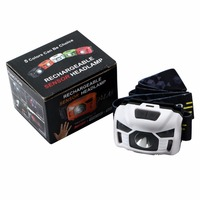 Hot Mini LED Headlamp CREE 3000Lumen IR Sensor Headlight USB Rechargeable Camping Portable Light Black White
