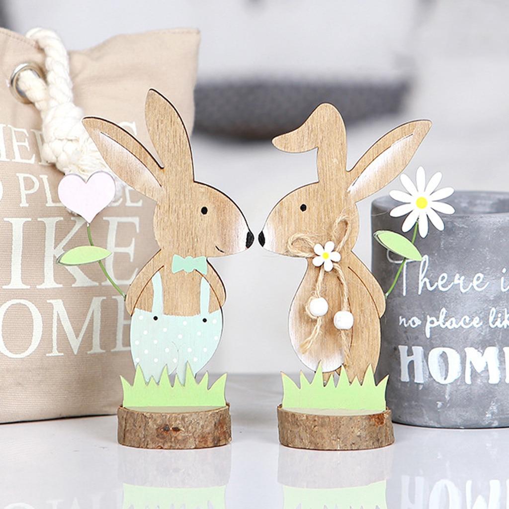 Aliexpress.com : Buy Cute Bunny Easter Decorations Wood