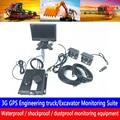 HD 4 kanal + 7 zoll auto monitor PAL/NTSC system remote positionierung überwachung 3G GPS bagger überwachung kit Authentische-in Auto-Multi-Angle-Kamera aus Kraftfahrzeuge und Motorräder bei