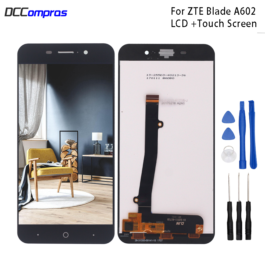 For <font><b>ZTE</b></font> <font><b>Blade</b></font> <font><b>A602</b></font> <font><b>LCD</b></font> <font><b>Display</b></font> Touch Screen Digitizer Replacement For <font><b>ZTE</b></font> <font><b>Blade</b></font> BA602 Screen <font><b>LCD</b></font> <font><b>Display</b></font> Phone Parts Free Tools image