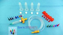 Air SMT SMD PCB Solder Paste Adhesive Glue Liquid Dispenser Syringe Kit (Jarum Suntik barel, Adapter, kiat mengeluarkan)(China)