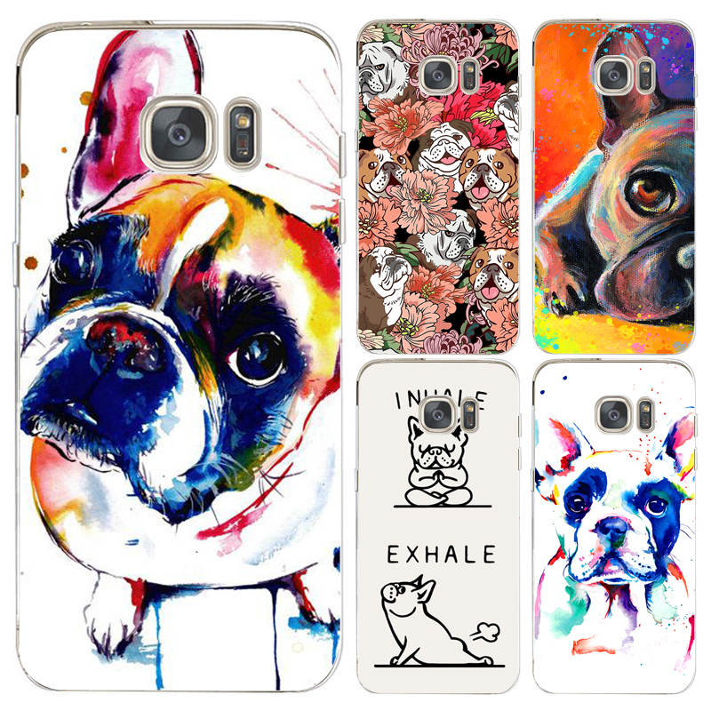 Coque French Bulldog Dog Capa Clear Soft TPU Silicone Cover for Samsung Galaxy S9 S8 Plus S6 S7 Edge Plus Note 8 5 4 S4 S5 Cases