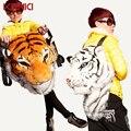 2016 Moda Creativa Estilo Animal de la Simulación Realista Tiger Head Lion Mochila Bandolera Bigbang g-dragon Parodia Regalo Del Partido