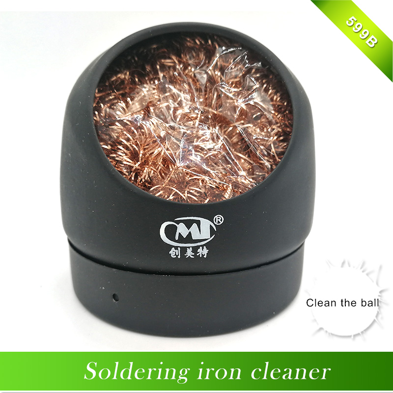 1pcs Soldering Iron Cleaner Wire With Stand Set Welding Head Solder Iron Tip Cleaner Cleaning Steel Hot Sale