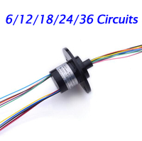 Free Shipping Hat Style Slip Ring 6 12 18 24 36 Circuits 2A Diameter 12 5