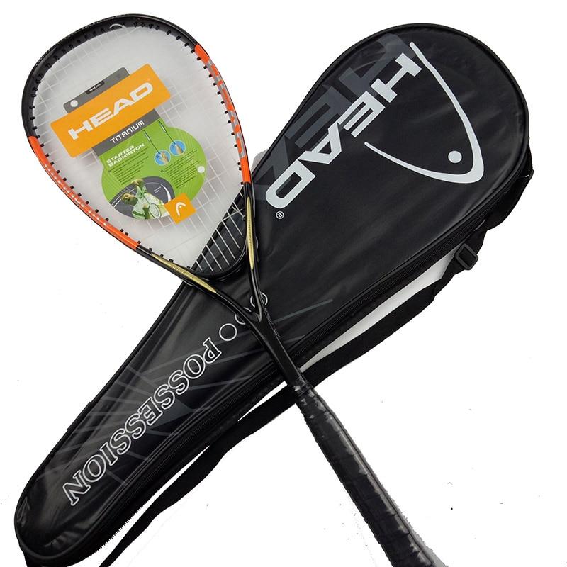 HEAD Carbon Squash Racket 1 Piece Padel With Original Squash Bag String Sports Training Raquete De Squash Racquet