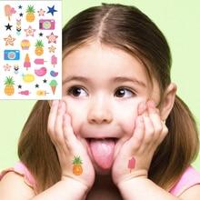 M-theory Pineapple Cream Cartoon Temporary Tattoo Body Art Flash Tattoo Sticker 10.5x6cm Waterproof Child Wall Sticker