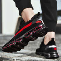 2019New Original Klinge Männer Turnschuhe Flyknit Luft Kissen Männer Schuhe Dämpfung Atmungsaktiv Run Männer Casual Schuhe Erhöhen Mesh Turnschuhe