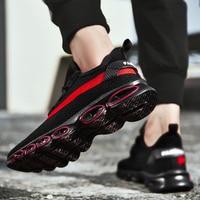 2019New Original Blade Men Sneakers Flyknit Air Cushion Men Shoes Damping Breathable Run Men Casual Shoes Increase Mesh Sneakers