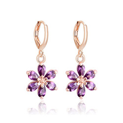 MISANANRYNE Hot Selling CZ Crystal Dangle Drop Earrings For Women Gold Color Brincos Waterdrop Zircon Earring