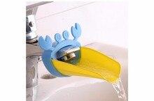 Hot Chidlren cartoon sink baby bath tap animal bathroom kitchen faucet extender for kids washing hands wash silicone shampoo cap