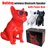 Hot Selling Bulldog Wireless Bluetooth Speaker Dog Full Active Speaker Subwoofer Multipurpose With Mic One Button Player