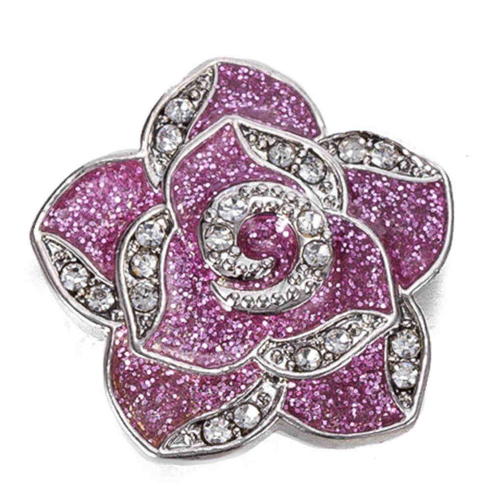 Botón de presión 18 mm broches de metal para broches de presión pulseras ajuste ginger snaps joyería broche de flores TZ9090