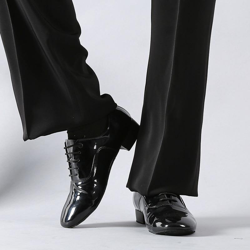 Image 4 - Big Size 38 45 Dance Shoes Men Modern Ballroom Low Heel Tango Latin Dancing Shoes Jazz Dance Practice Sneakers-in Dance shoes from Sports & Entertainment
