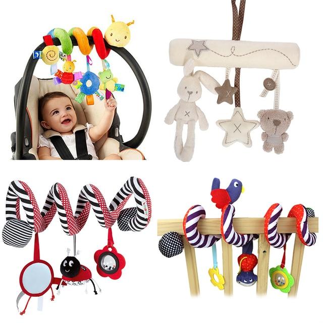 Macio Infantil Cama Berço Carrinho de Espiral Brinquedo Brinquedos Para Recém-nascidos Do Bebê Do Assento de Carro Educacional Educação Brinquedos Chocalho Do Bebê Do Bebê Toalha
