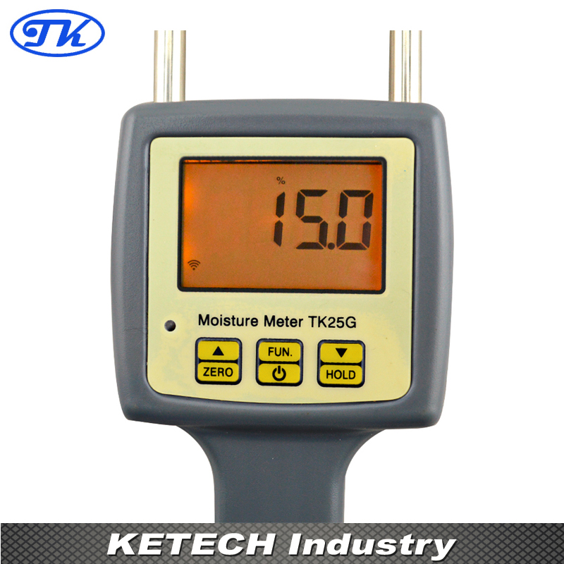 25 Kinds Grain Moisture Meter For Packed Grains, Barley, Corn,Hay,Oats,Rapeseed,Rough Rice,Sorghum,Soybeans and Wheat TK25G grain moisture meter lcd display digital grain moisture tester contains wheat corn rice humidity tools atc and backlight
