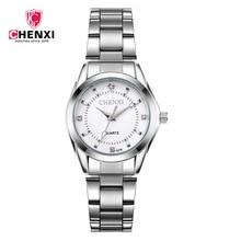 021B New Fashion CHENXI CX021B Brand relogio Luxury Womens Casual watches waterproof watch women Clocks Dress Gift Rhinestone
