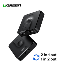 цена на Ugreen HDMI Splitter Switch Bi-Direction 4K HDMI Switcher 1x2/2x1 Adapter 2 in 1 out Converter for PS4/3 TV Box HDMI Splitter
