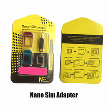 5 in 1 Nano Sim Card Adapter Micro Standard SIM For iPhone 4 4S 5c 5s 6 6s for Samsung Xiaomi