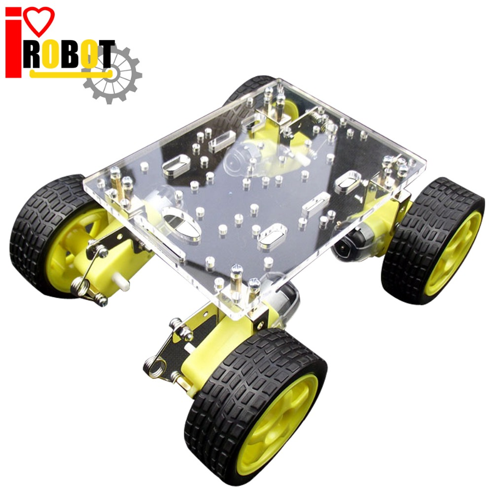 ФОТО Rotoup 4WD Smart Robot Chassis Kit Tracking Avoidance robot Platform chasis kits Motor Wheels Speed Encoder for Arduino #RBP010