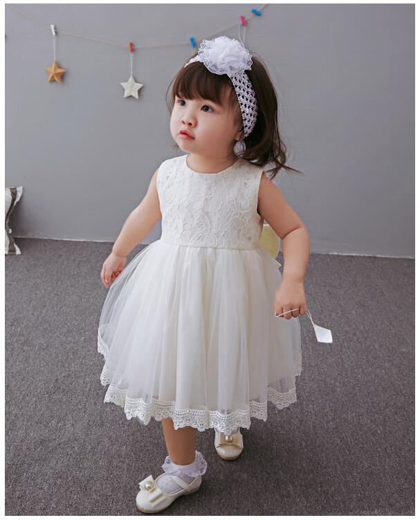Baby Girls Pageant Formal Dresses 2017 Summer Baptism Bow Lace Cute Infant Girls Princess tutu Dress Kids Birthday Party Dresses 2017 fashion summer hot sales kid girls princess dress toddler baby party tutu lace bow flower dresses fashion vestido