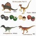 Surtido de 4 unids/set de ukenn decimotercera generación DIY dino huevo niños juguetes educativos 7566